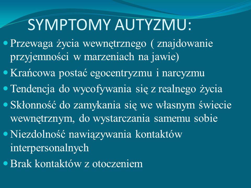 DEFINICJA AUTYZMU: Z ang. Autism, franc. Autisme, niem. Autismus, łac.autismus, od grec. autos (=sam). Stanowi niepełnosprawność rozwojową, poważnie o