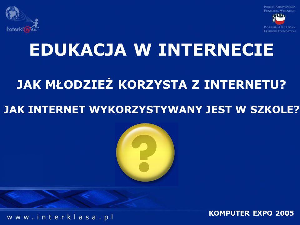 EDUKACJA W INTERNECIE JAK MŁODZIEŻ KORZYSTA Z INTERNETU.