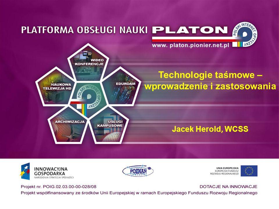Oprogramowanie do archiwizacji Istotne cechy oprogramowania Wspierany sprzęt Wspierane systemy operacyjne Praca w sieci Sposób zarządzania Procedury awaryjne Wsparcie od strony producenta Wspierane technologie, Multi-Volume, VTL, RAIT, Disk Pool Oprogramowanie IBM TSM Bacula Amanda CASTOR (CERN) Veritas backup tar, dump/restore, mt, mtx