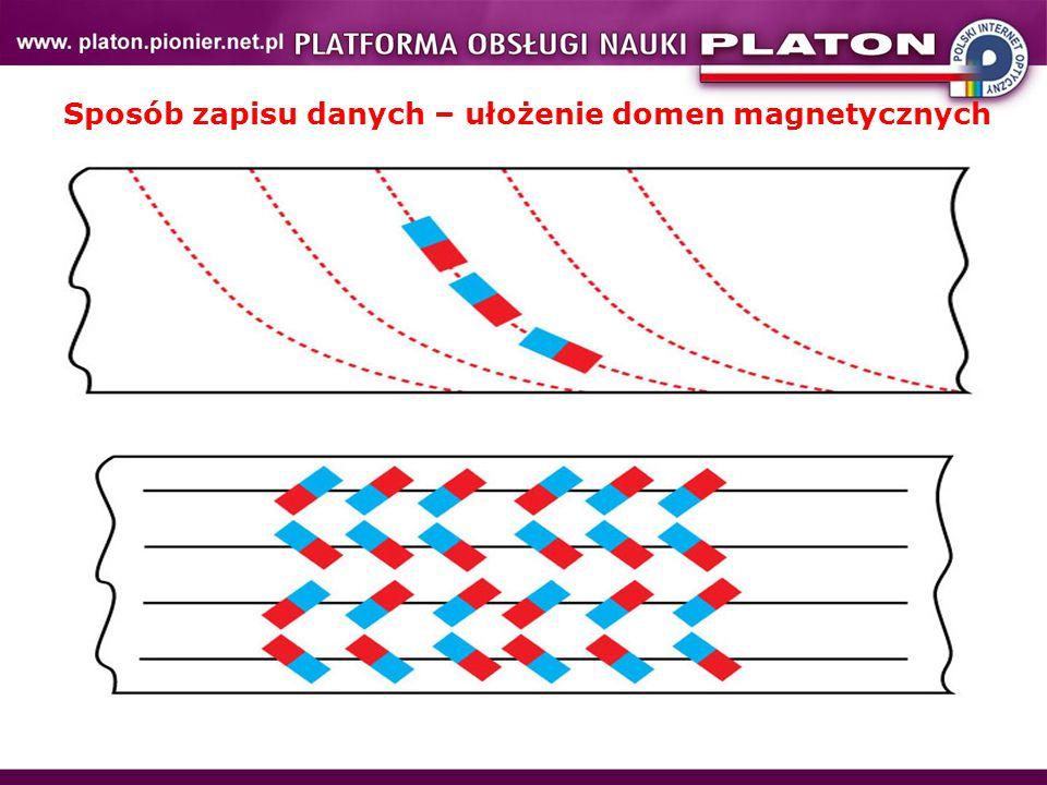 Sposób zapisu danych – ułożenie domen magnetycznych