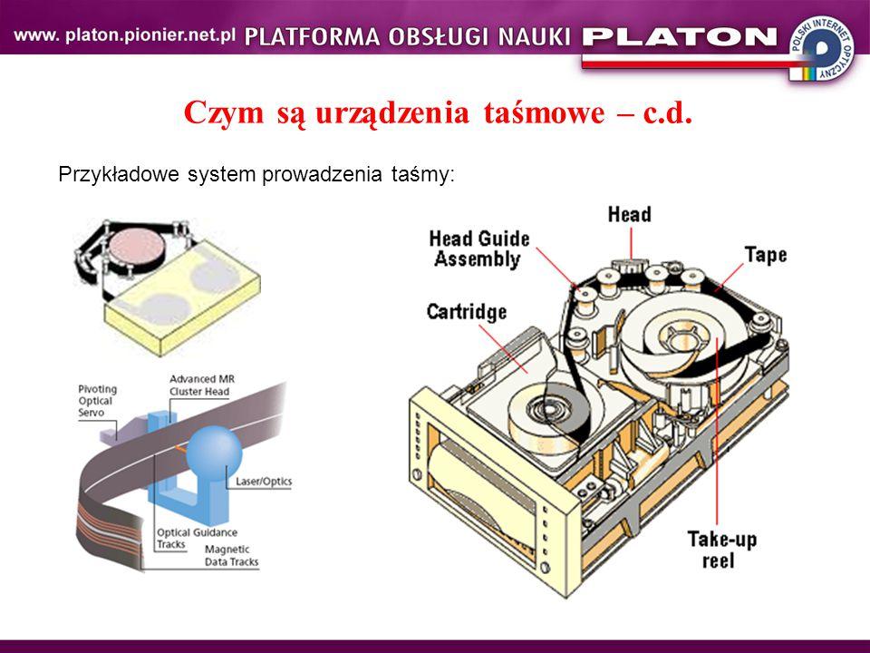 Czym są urządzenia taśmowe – c.d. Przykładowe system prowadzenia taśmy: