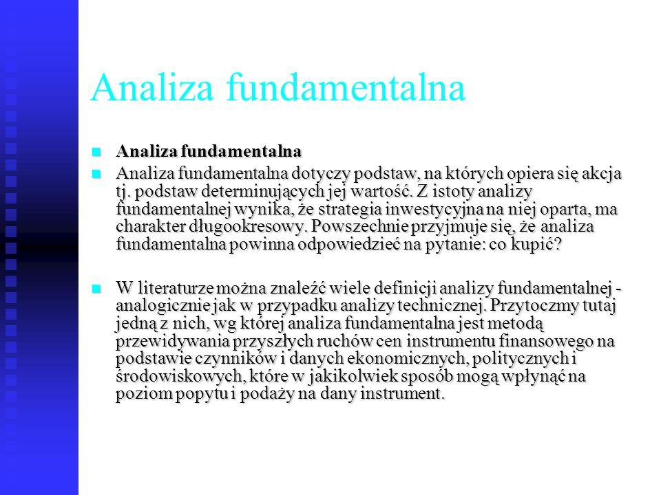 41 Analiza fundamentalna Analiza fundamentalna Analiza fundamentalna Analiza fundamentalna dotyczy podstaw, na których opiera się akcja tj. podstaw de