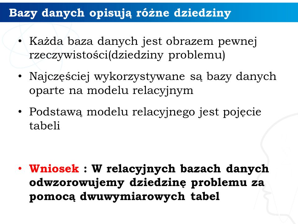 Przetwarzanie w oknie 26 Elementy definiowania okna Porządkowanie : OVER (ORDER BY Kolumna) Partycjonowanie OVER (PARTITION BY Kolumna) Definicja ramy okna (element ruchomy) OVER (ORDER BY Kolumna ROWS BETWEEN UNBOUNDED PRECEDING AND CURRENT ROW )