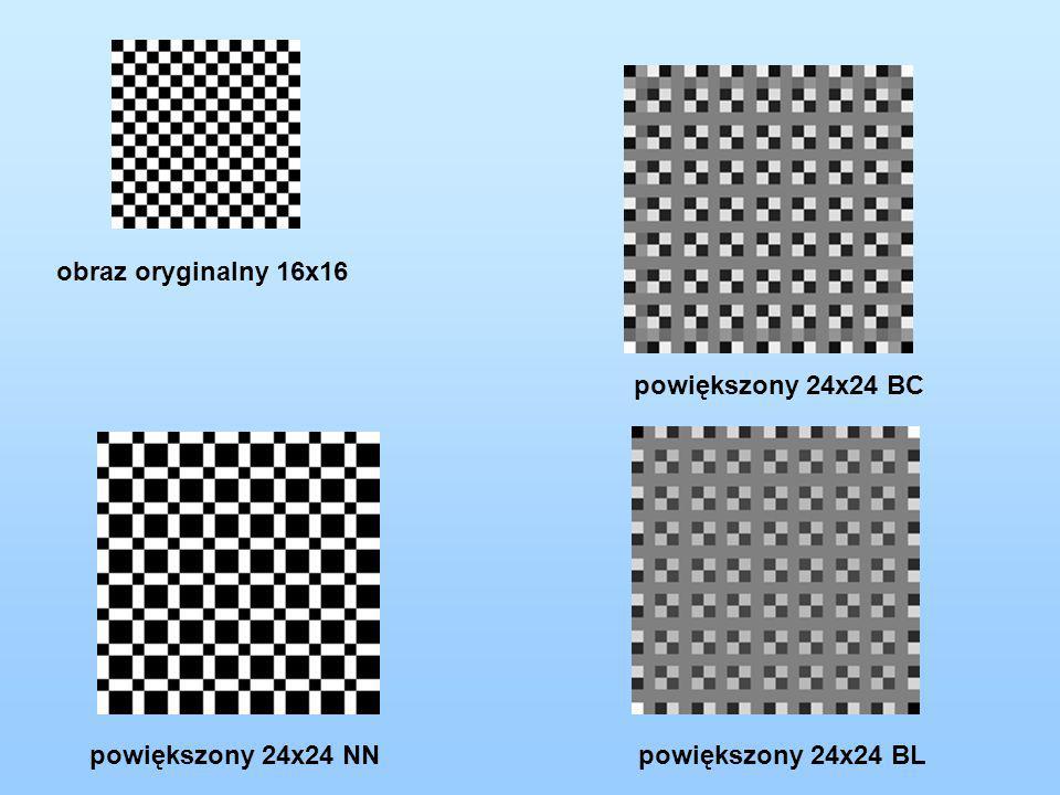 obraz oryginalny 16x16 powiększony 24x24 NN powiększony 24x24 BL powiększony 24x24 BC