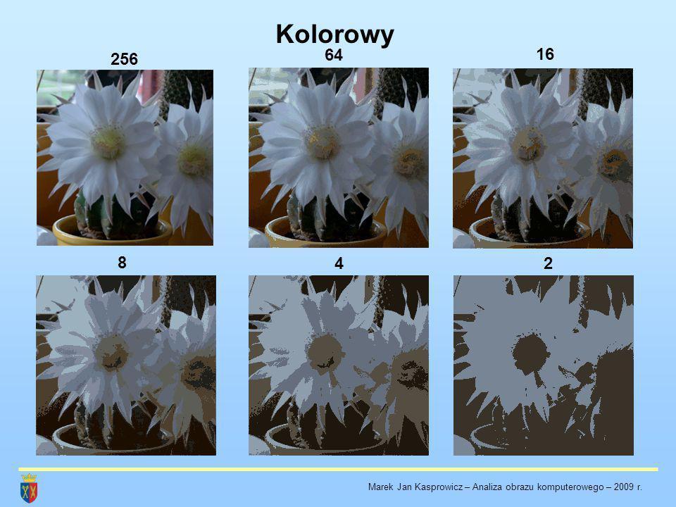 Kolorowy 256 64 16 8 42 Marek Jan Kasprowicz – Analiza obrazu komputerowego – 2009 r.