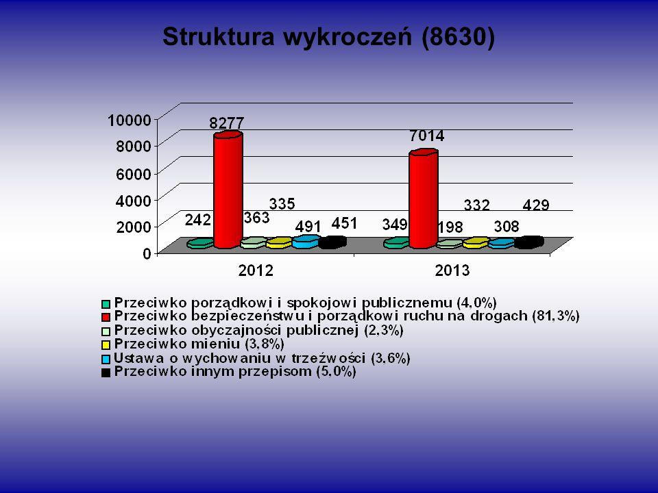 Struktura wykroczeń (8630)