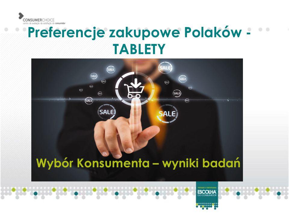 Preferencje zakupowe Polaków - TABLETY Wybór Konsumenta – wyniki badań