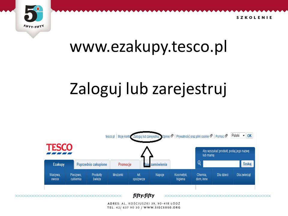 www.ezakupy.tesco.pl Zaloguj lub zarejestruj