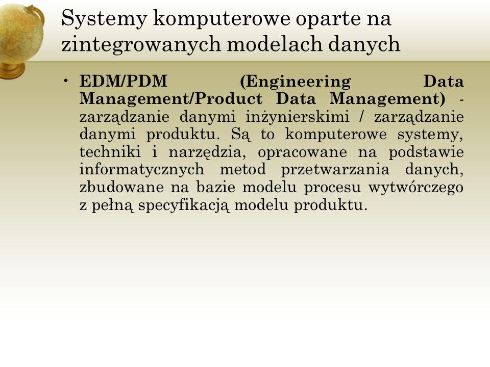 Systemy komputerowe oparte na zintegrowanych modelach danych EDM/PDM (Engineering Data Management/Product Data Management) - zarządzanie danymi inżyni