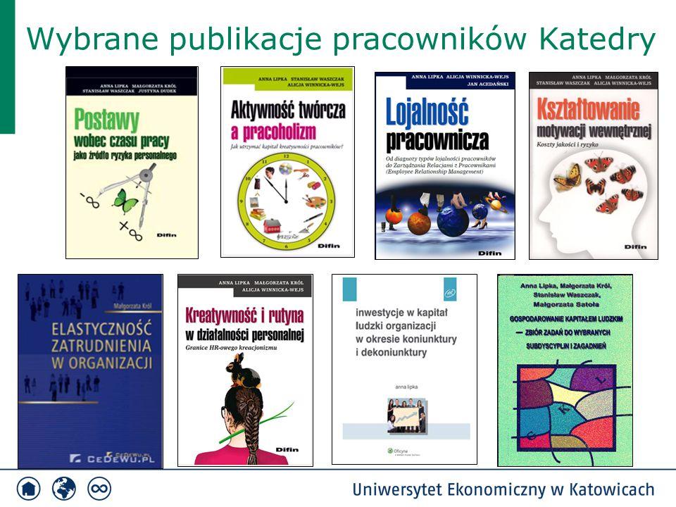Wybrane publikacje pracowników Katedry