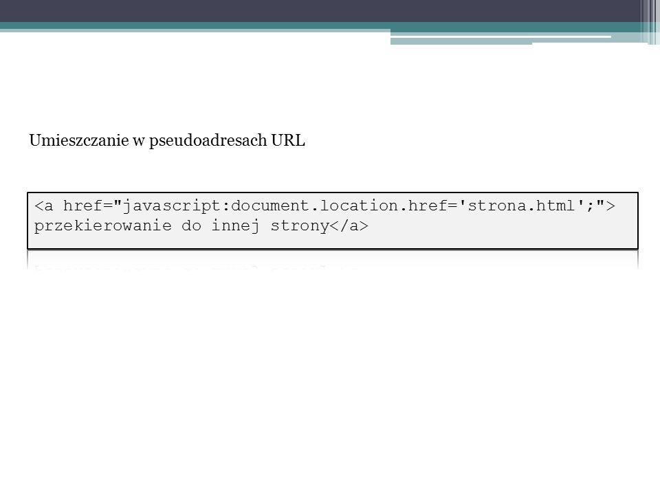 Umieszczanie w pseudoadresach URL