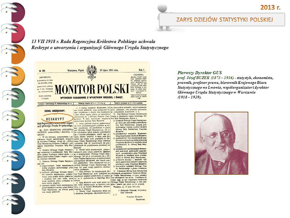 Pierwszy Dyrektor GUS prof. Józef BUZEK (1873 – 1936) - statystyk, ekonomista, prawnik, profesor prawa, kierownik Krajowego Biura Statystycznego we Lw