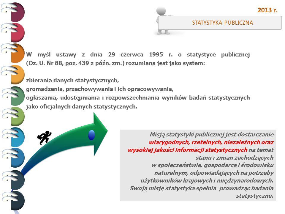W myśl ustawy z dnia 29 czerwca 1995 r. o statystyce publicznej (Dz. U. Nr 88, poz. 439 z późn. zm.) rozumiana jest jako system: zbierania danych stat