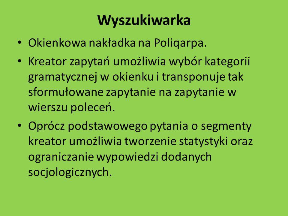 Wyszukiwarka Okienkowa nakładka na Poliqarpa.