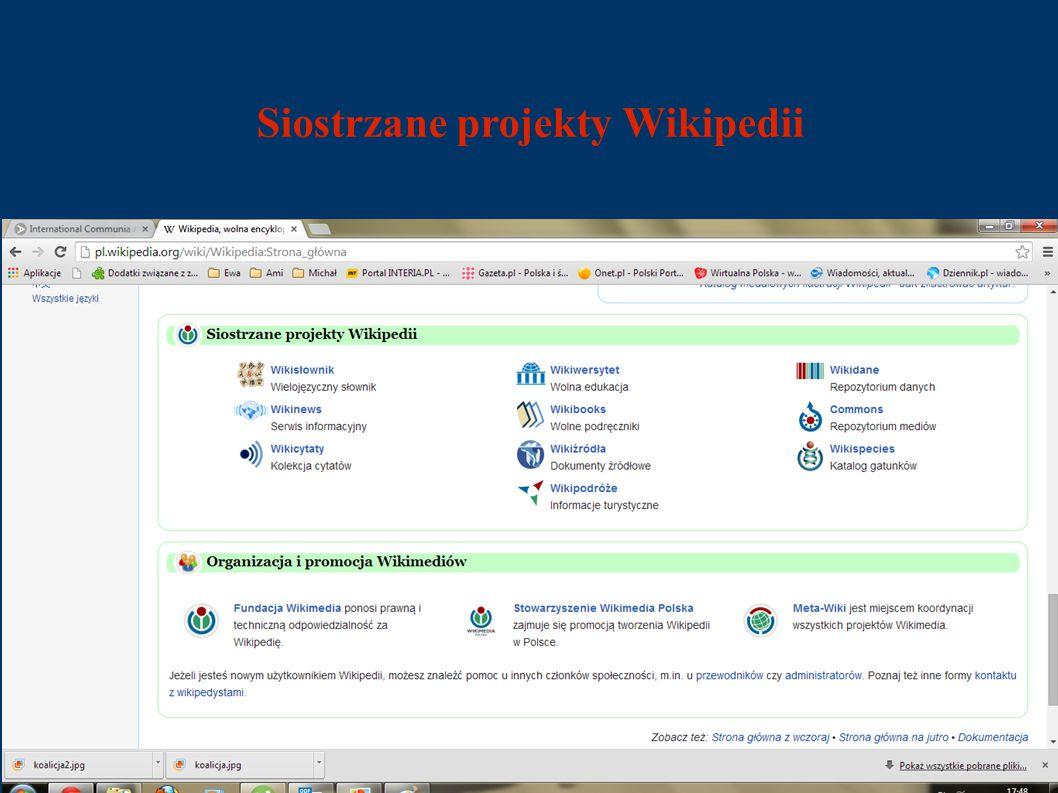 Siostrzane projekty Wikipedii