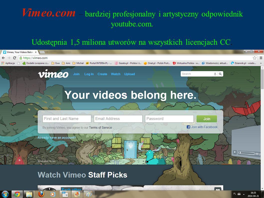 Vimeo.com – bardziej profesjonalny i artystyczny odpowiednik youtube.com.