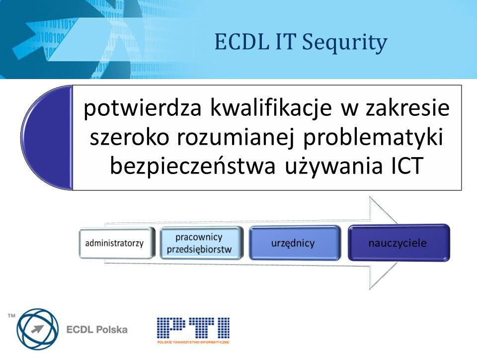 potwierdza kwalifikacje w zakresie szeroko rozumianej problematyki bezpieczeństwa używania ICT