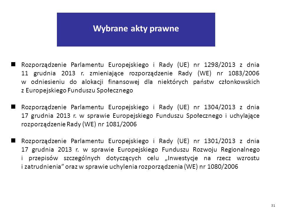 31 Rozporządzenie Parlamentu Europejskiego i Rady (UE) nr 1298/2013 z dnia 11 grudnia 2013 r.