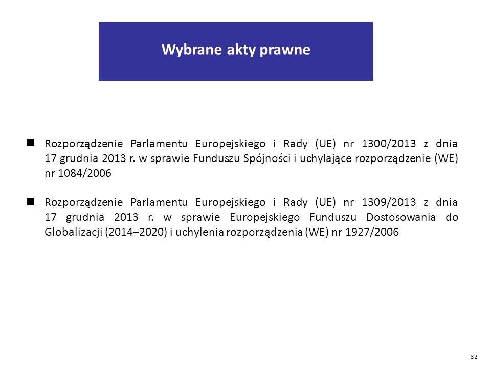 32 Rozporządzenie Parlamentu Europejskiego i Rady (UE) nr 1300/2013 z dnia 17 grudnia 2013 r.