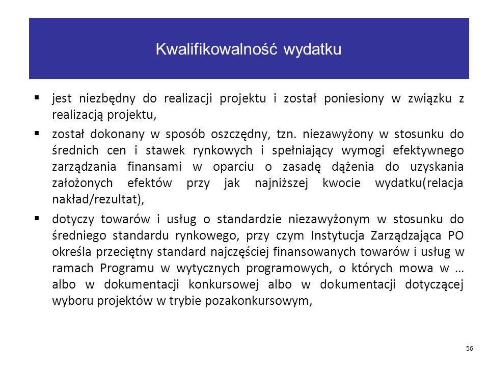  jest niezbędny do realizacji projektu i został poniesiony w związku z realizacją projektu,  został dokonany w sposób oszczędny, tzn.