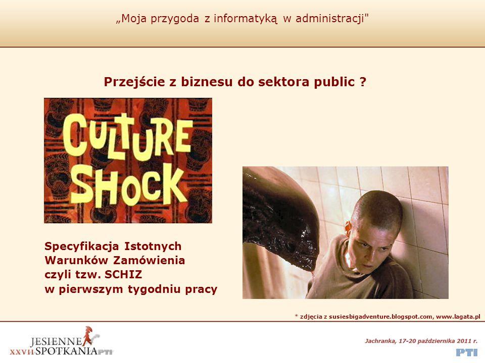 """""""Moja przygoda z informatyką w administracji Dziękuję za uwagę Adam Mizerski adam@mizerski.net.pl"""