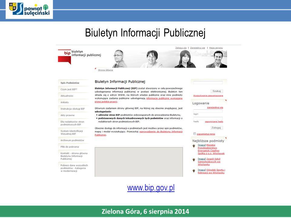 Biuletyn Informacji Publicznej www.bip.gov.pl