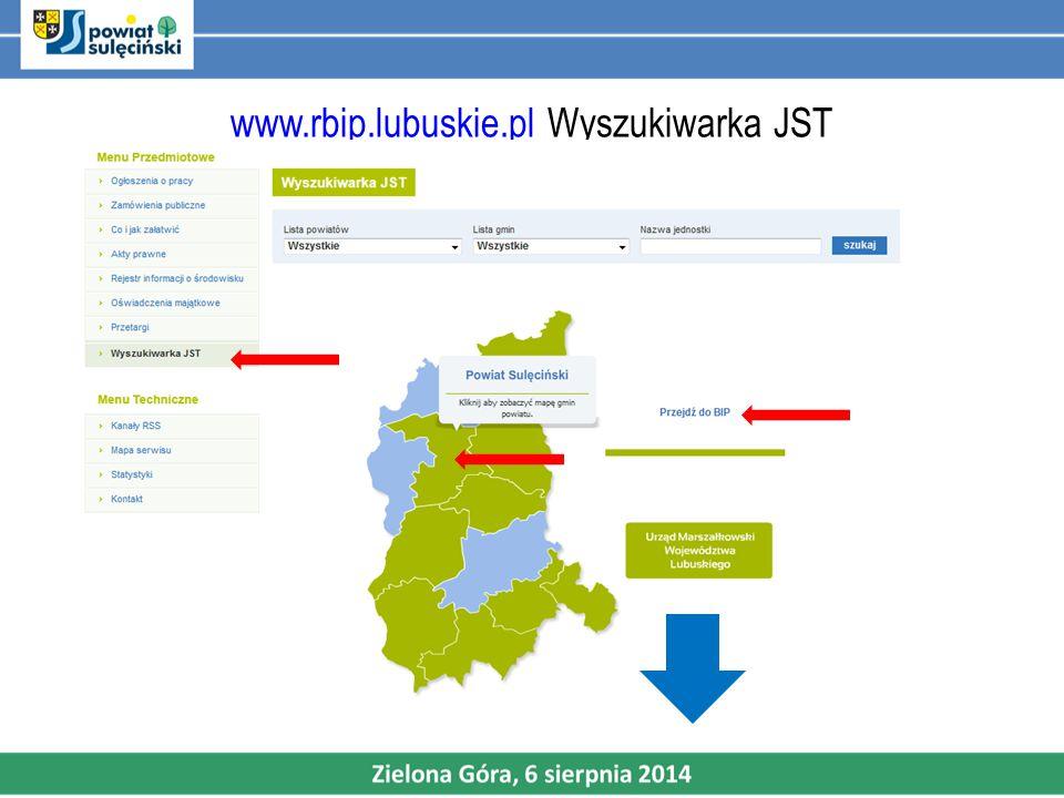 www.rbip.lubuskie.plwww.rbip.lubuskie.pl Wyszukiwarka JST