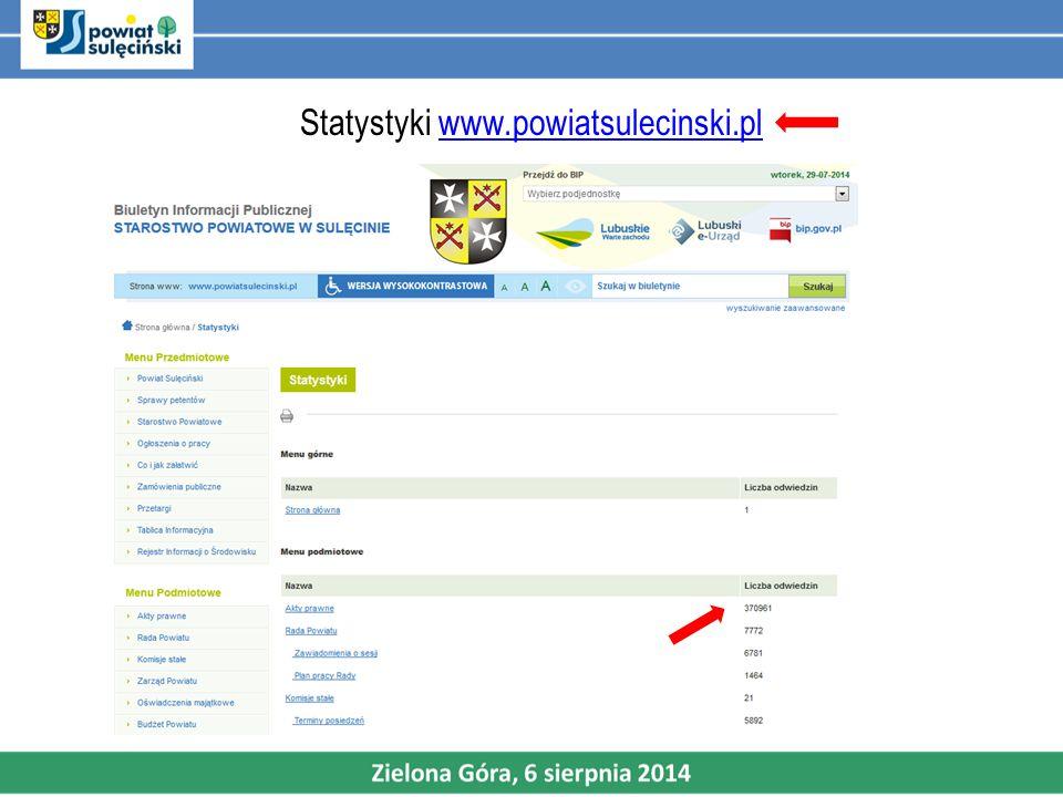 Statystyki www.powiatsulecinski.plwww.powiatsulecinski.pl