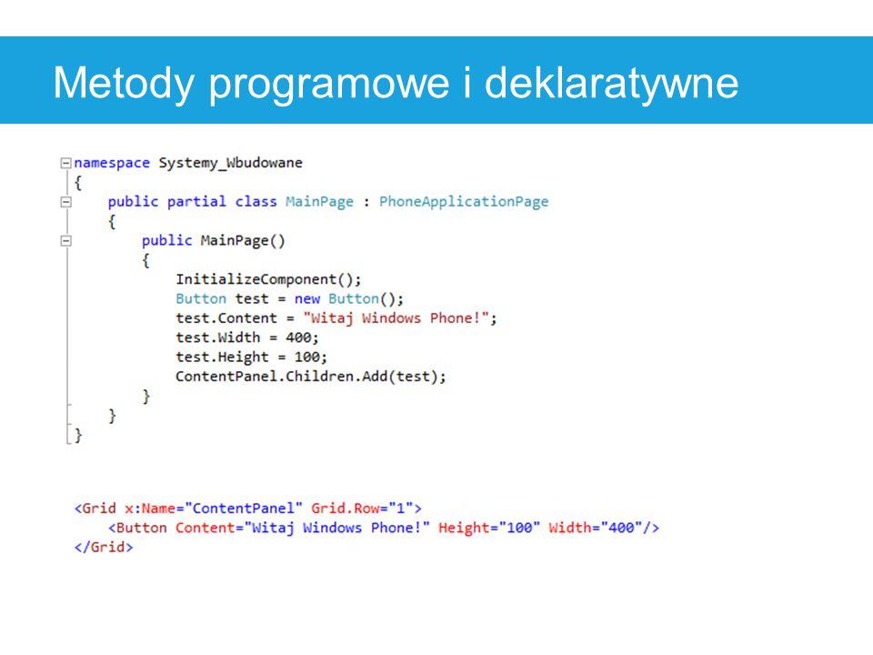 Metody programowe i deklaratywne