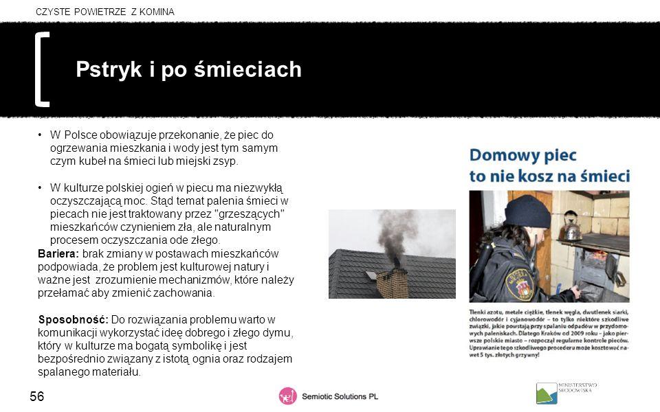 56 Pstryk i po śmieciach W Polsce obowiązuje przekonanie, że piec do ogrzewania mieszkania i wody jest tym samym czym kubeł na śmieci lub miejski zsyp