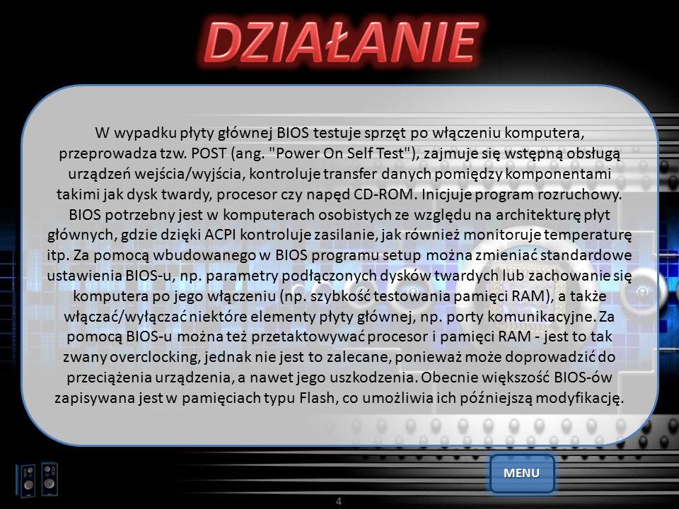 15 Powyższe składniki CBROM umożliwia: - dodawać: CBROM.EXE Plik.BIN /pci pcirom354.rom: Dodaje PCI BIOS ROM do System BIOS-u - usuwać: CBROM.EXE Plik.BIN /epa awardepa.epa release: Usuwa logo BIOS-u - ekstrahować: CBROM.EXE Plik.BIN /vga miv107s.vga extract: Wyciąga VGA ROM z BIOS-u Dzięki temu mamy możliwość m.in.