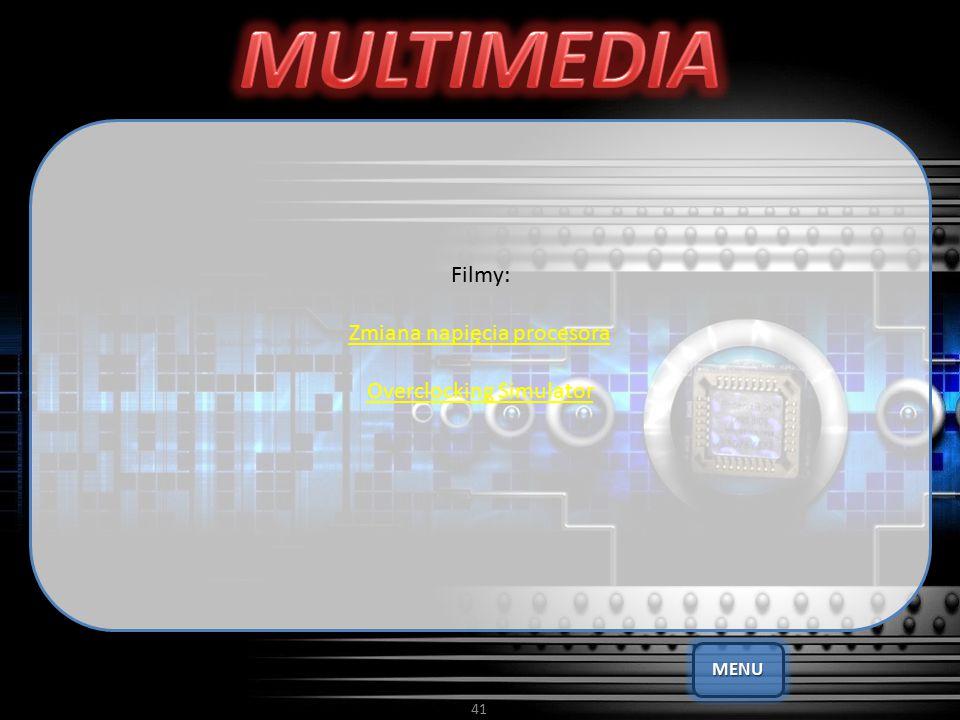 41 Filmy: Zmiana napięcia procesora Overclocking Simulator MENU
