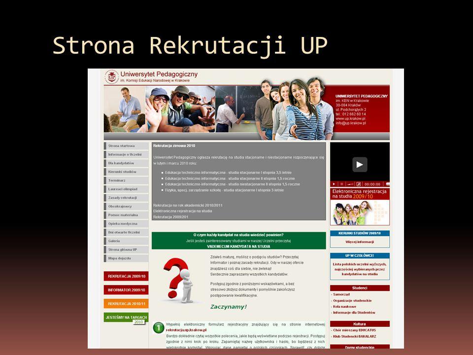 Strona Rekrutacji UP