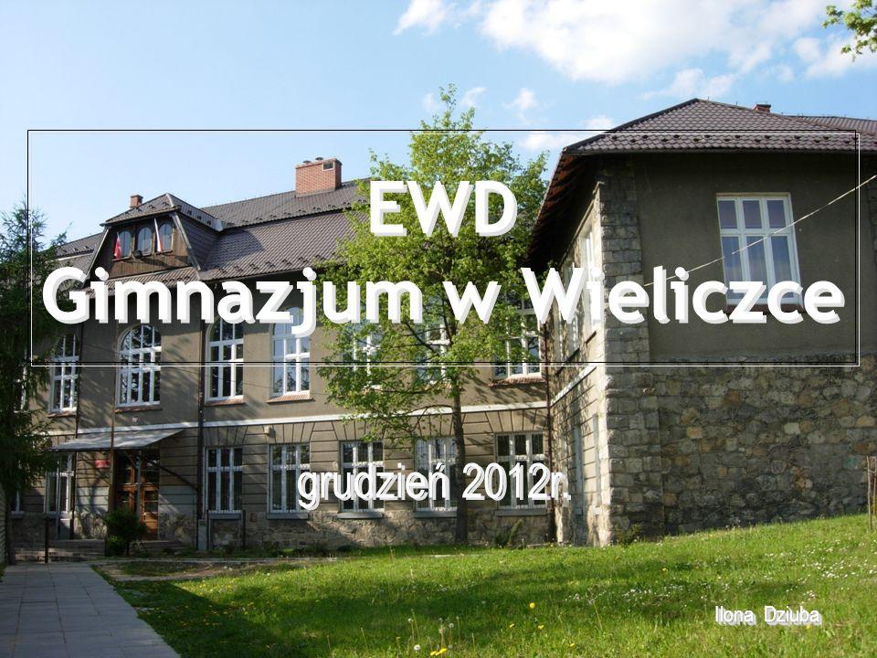 EWD Gimnazjum w Wieliczce Ilona Dziuba Ilona Dziuba grudzień 2012r.