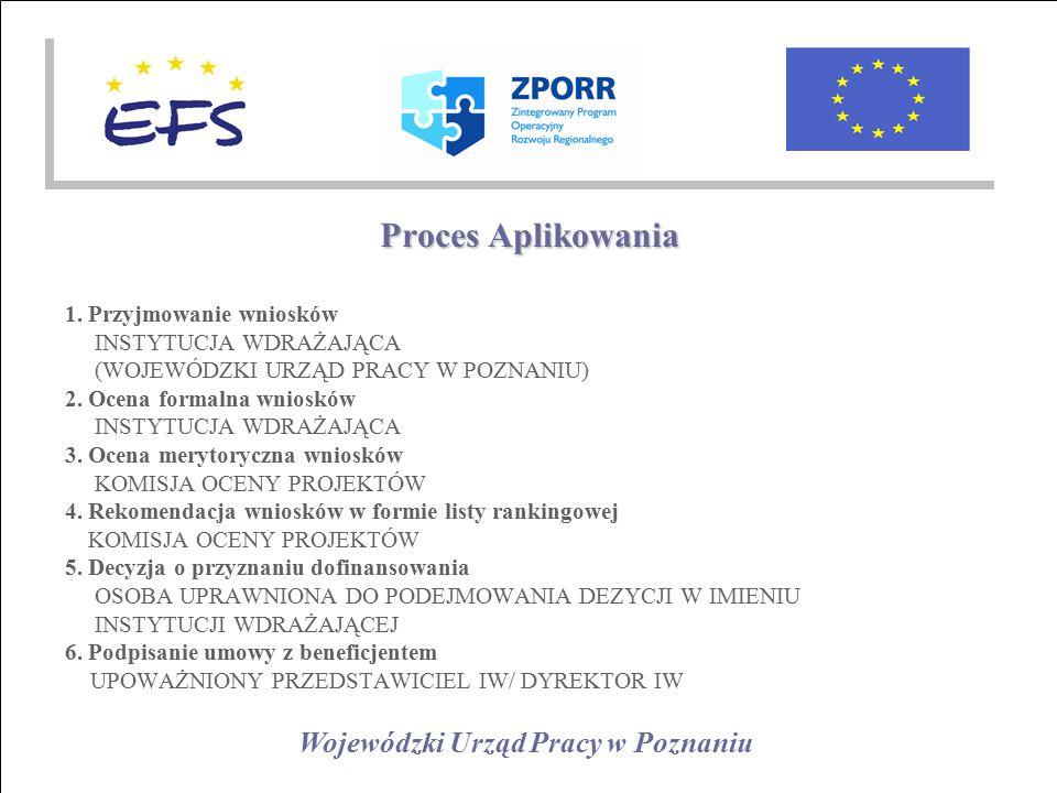 Wojewódzki Urząd Pracy w Poznaniu Proces Aplikowania 1.