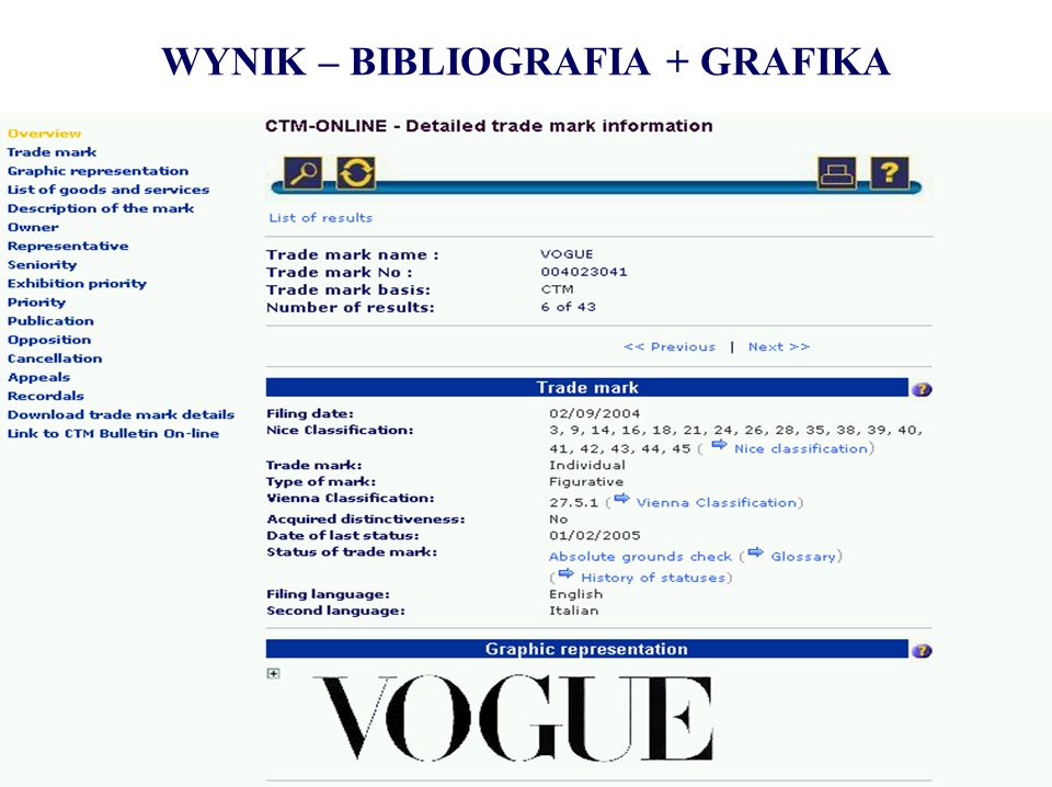 WYNIK – BIBLIOGRAFIA + GRAFIKA