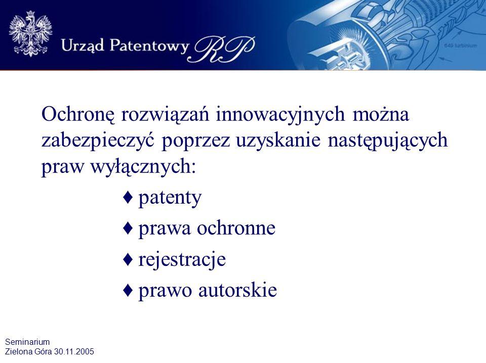"""Przedmioty ochrony własności przemysłowej w Polsce Na terytorium Polski problematykę ochrony własności przemysłowej reguluje ustawa """"Prawo własności przemysłowej – z dnia 30 czerwca 2000 roku (Dz."""