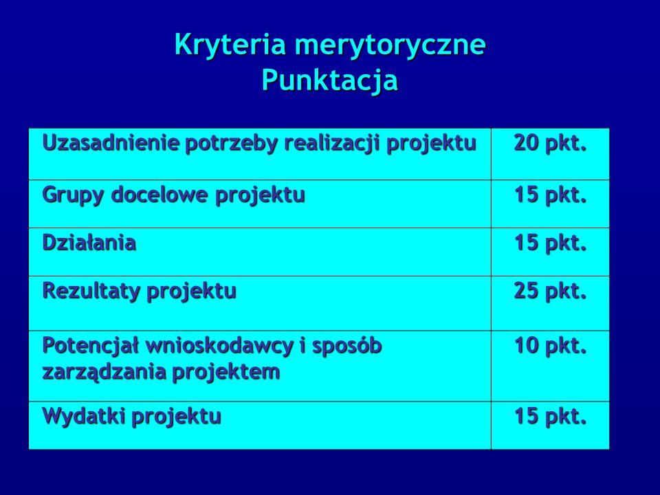 Uzasadnienie potrzeby realizacji projektu Uzasadnienie potrzeby realizacji projektu 20 pkt.