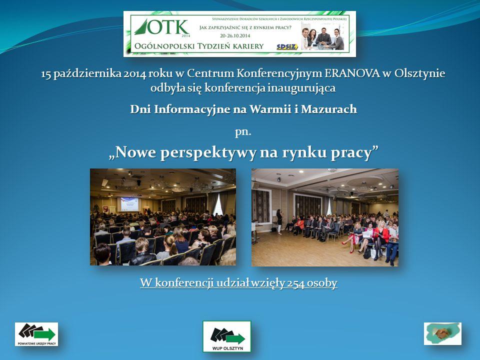 15 października 2014 roku w Centrum Konferencyjnym ERANOVA w Olsztynie odbyła się konferencja inaugurująca Dni Informacyjne na Warmii i Mazurach pn.