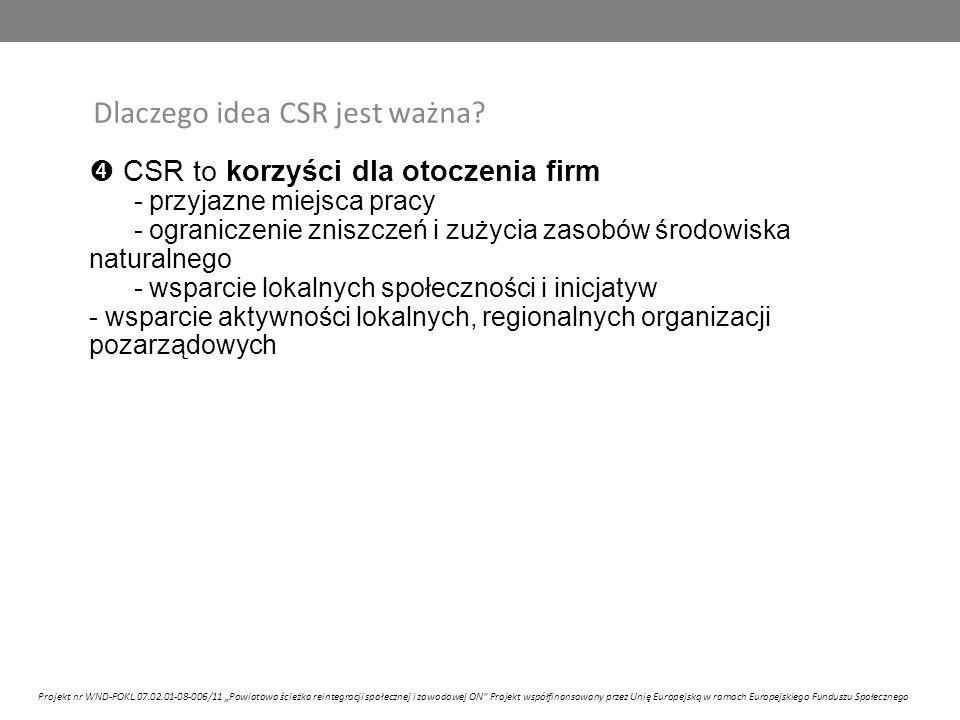 Dlaczego idea CSR jest ważna.