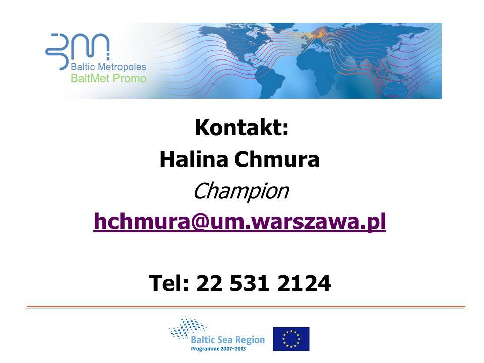 Kontakt: Halina Chmura Champion hchmura@um.warszawa.pl Tel: 22 531 2124