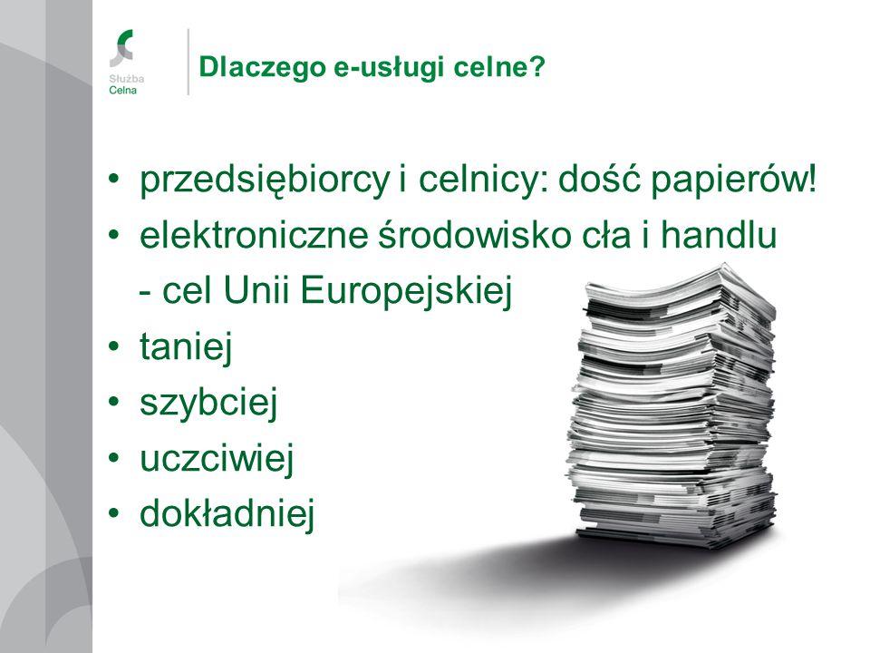 Dlaczego e-usługi celne.przedsiębiorcy i celnicy: dość papierów.
