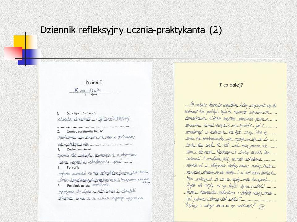 Dziennik refleksyjny ucznia-praktykanta (2)