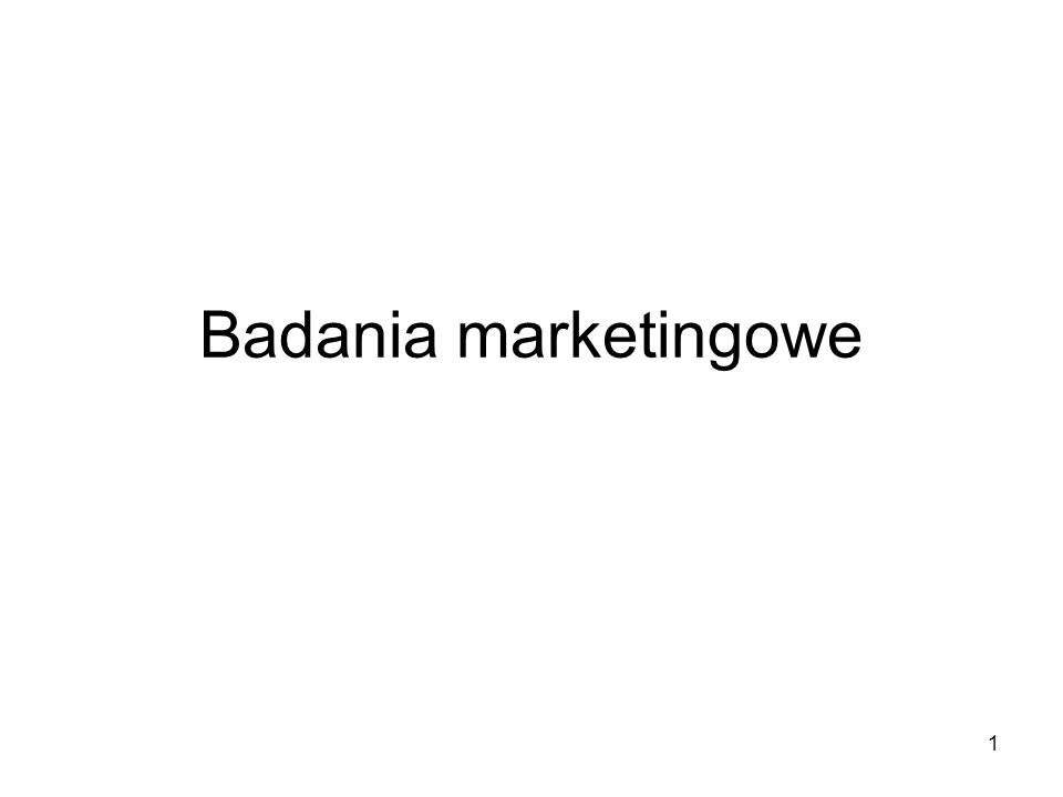 2 Co to są badania marketingowe.