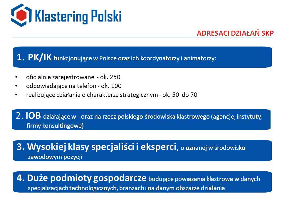 ADRESACI DZIAŁAŃ SKP oficjalnie zarejestrowane - ok.