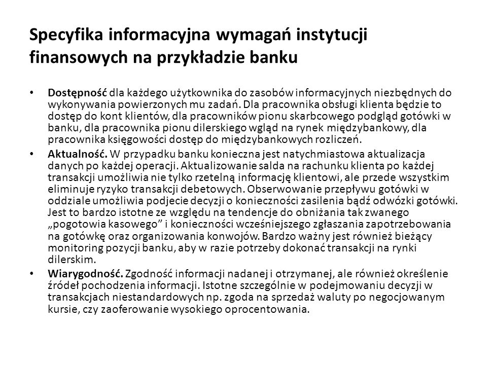 Niekorzystne sytuacje z punktu widzenia bezpieczeństwa systemów bankowych przypadkowe ujawnienie informacji przez pracowników (w postaci przesłania poufnych danych do niewłaściwej osoby, wyrzucenie istotnych danych, udostępnienie niepowołanym osobom, przypadkowe odkrycie hasła lub szyfru), przypadkowe usunięcie informacji z pamięci zewnętrznej (sformatowanie dysku, usunięcie pliku, katalogu itp.), umyślne działania zawodowych włamywaczy komputerowych, nadużycia popełniane w systemie przez pracowników banku, byłych pracowników banku i klientów systemu, znających np.