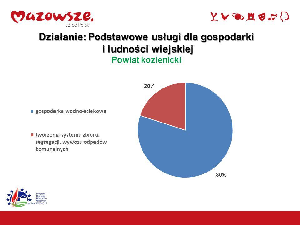 Działanie: Podstawowe usługi dla gospodarki i ludności wiejskiej i ludności wiejskiej Powiat kozienicki 13