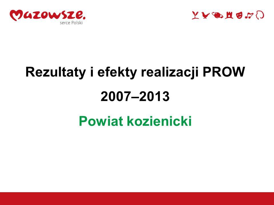 Rezultaty i efekty realizacji PROW 2007–2013 Powiat kozienicki