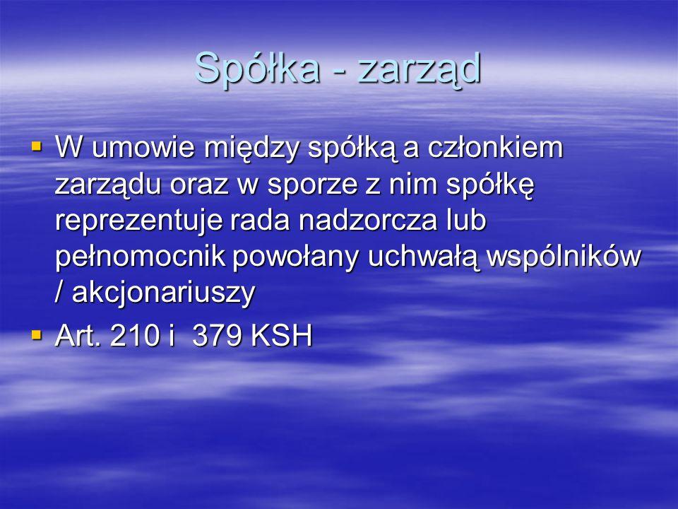 Umowy z członkami zarządu  Spółka z o.o./ S.A. rada n.
