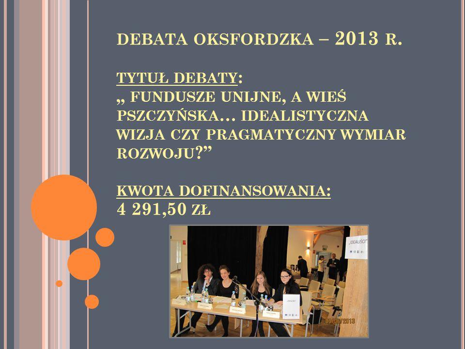 DEBATA OKSFORDZKA – 2013 R.